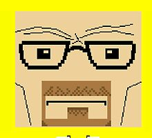 Breaking Bad Walter White Pixel Art by crtjer