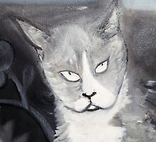 Cat Head Grey by ArtByLes