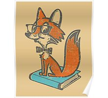 Fox Librarian Poster