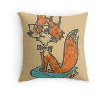 Fox Librarian Throw Pillow