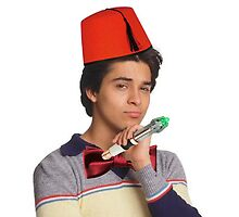 Fez wearing a fez and being the doctor  by michaelcera