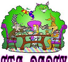 Alice has a Tea Party by Skree