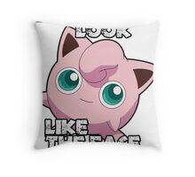 Jigglypuff - Face Of Mercy Throw Pillow