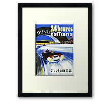 24 Hours of LeMans - 1958 Poster Art Framed Print