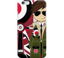 Mod Boy & Retro Scooter iPhone Case/Skin