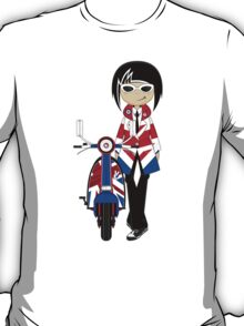 Mod Girl and Scooter T-Shirt