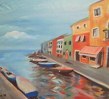 Burano Canal by Matthew Scotland