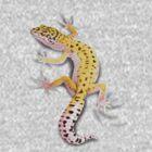 Leopard Gecko Clinger by Art-by-Aelia