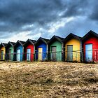Beach Huts by Andrew Pounder