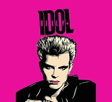 Billy Idol phone case by bullshirt