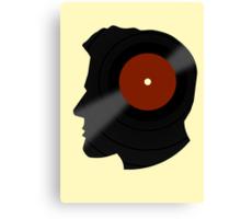 Vinyl Records Lover - The DJ - Vinylized Man T Shirt Canvas Print