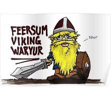 Feersum Viking Waryur Poster