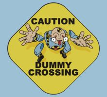 Crash Test Dummies - Caution Dummy Crossing - Blue Dummy by DGArt