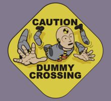 Crash Test Dummies - Caution Dummy Crossing - Gray Dummy Kids Clothes