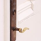 Marfa Courthouse Side Door Lever by Robert Armendariz
