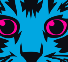Blue Kitten Nineteen Sticker