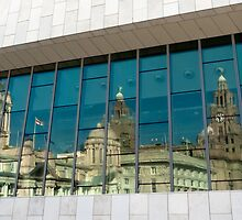 Three Graces Reflection, Liverpool by stuartmac