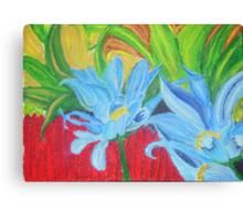 flower on a fence Canvas Print