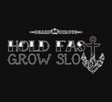 Hold Fast Grow Slow 3 HRZ BLK WHT by mijumi