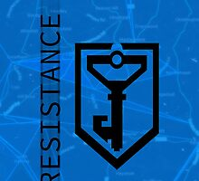 Ingress Resistance Logo on Map by oindypoind