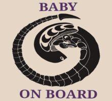 Alien chest burster - baby on board (purple) by hoofster