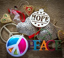 Hope, Peace & Love by Mikell Herrick