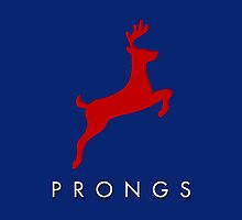 Prongs Stag - Red/Blue by lizzybennet