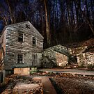 Grist Mill at Night by Jimmy Phillips