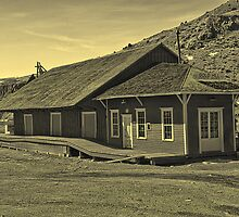 Virginia-Truckee Train Depot at Gold Hill, Nevada by Brenton Cooper