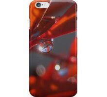 Red Dewdrops iPhone Case/Skin