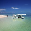 Sea Plane - Heron Island - Australia by Anthony Wilson