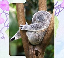 Sleepy Koala Bear iPad Case by Gotcha29
