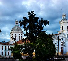San Sebastian Church, Cuenca, Ecuador by Al Bourassa