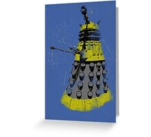 Vintage Look Half Tone Doctor Who Dalek Graphic Greeting Card