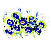 Blue Flowers Unique Art Photographic Print