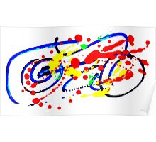 Motorbike- Unique Abstract Painting Poster