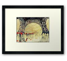 Under the Eiffel Tower Framed Print