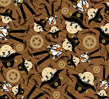 Cute Cowboy Pattern by MurphyCreative