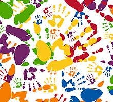 Kids Handprint Pattern by MurphyCreative
