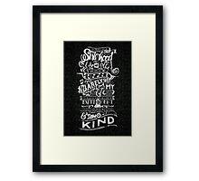 One of a kind (black) Framed Print