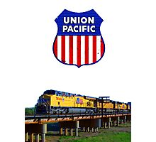 Union Pacific Railroad Train & Logo Photographic Print