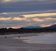 Sunset on the Beach! Evans Head, N.S.W. North Coast. Aust. by Rita Blom