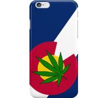 Smartphone Case - State Flag of Colorado - Cannabis Leaf 4 iPhone Case/Skin