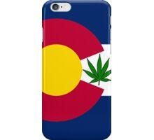 Smartphone Case - State Flag of Colorado - Cannabis Leaf 6 iPhone Case/Skin