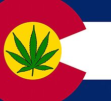 Smartphone Case - State Flag of Colorado - Cannabis Leaf 7 by Mark Podger