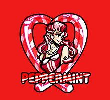 Peppermint Pin up by terrorbunny