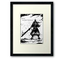 Gwyn, Lord of Cinder Framed Print