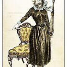 The Swords Suit - Queen of Swords by TheIsidoreTarot