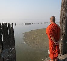 View from U Bein Bridge, Amarapura by shicks4