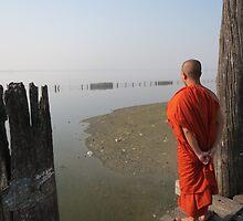 View from U Bein Bridge, Amarapura by shicks4